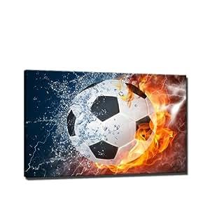 Fussball sport bild auf leinwand 60x40 cm - Leinwand amazon ...