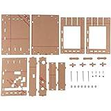 XCSOURCE® Transparente de acrílico DIY Case Shell carcasa con botones de extensión y los interruptores para DSO138 Kit Osciloscopio Digital TE640