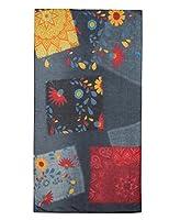 Desigual Foul_Gloria_Rectangle, Bufanda para Mujer, (Jeans 5006), única (Talla del Fabricante: U)