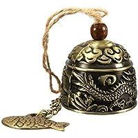 Ndier Retro - Campana de viento Fengshui Chimes decoración vintage dragón adornos para el hogar
