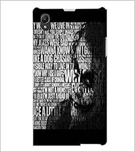 PrintDhaba Typography D-3737 Back Case Cover for SONY XPERIA Z1 (Multi-Coloured)