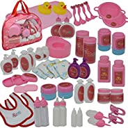 Doll Feeding Set with Baby Doll Accessories Includes Doll Bottles