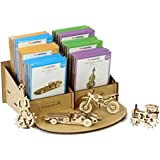 Fun Models - Set Of 24 Flat Pack (6 X 4 Designs) With Standee - DIY Miniature Mechanical Self Assembly Wooden Models (Bike, Car, Tractor, Guitar) – Educational Wooden Toys For Kids & Grown Ups – Birthday Party Return Gift - Fun Desk Toys &