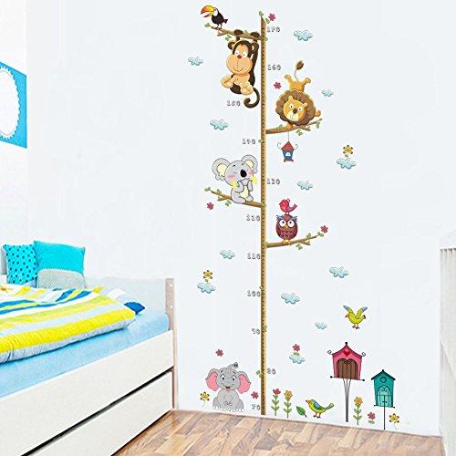 GZZQTT Elephant Lion Wand Decor Höhe Mess Wand Aufkleber Für Kinder Zimmer Schlafzimmer Home Decor DIY Poster Wandbild Tapete Wand Abziehbilder (- Höhe Wand Mess)