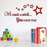Amphia - Wir wünschten, Sie hätten echte Wandaufkleber Papier.Home Decor Wandaufkleber Aufkleber Schlafzimmer Vinyl Kunstwand