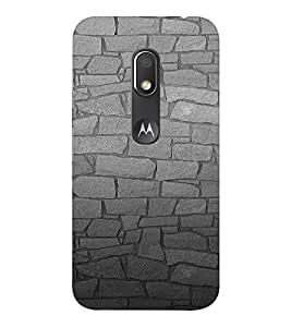 EPICCASE Granite Wall Mobile Back Case Cover For Moto Play (Designer Case)