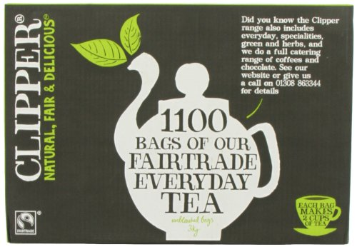 Clipper Fairtrade Everyday One Cup 1100 Teabags 3000 G