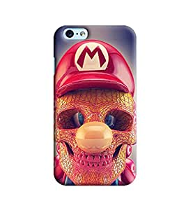 Blue Throat Skeleton Face With Red Hat Printed Designer Back Cover/Case For Apple iPhone 6 Plus