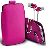 (Hot Pink + Ear phone 145 x73) Pouch Case For Medion Life