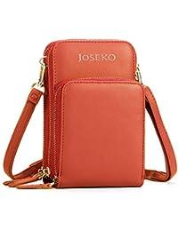 JOSEKO Crossbody Bag, Bolso de Embrague de Cuero sólido de la PU de Las Mujeres Card Bag Phone Bag Bolso de Crossbody