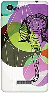 The Racoon Lean From Another World hard plastic printed back case / cover for Micromax Unite 3