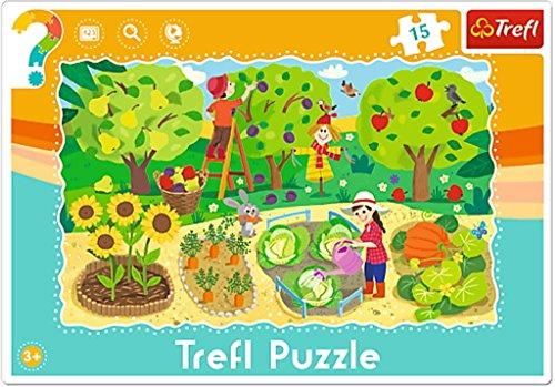 Trefl - Puzzle avec Cadre le Jardin 15 Pièces, 31218U