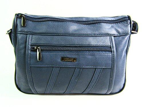 The Leather Emporium - Sacchetto donna Blu navy
