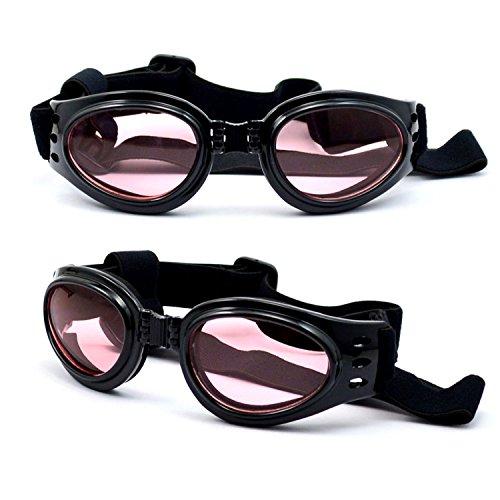 dreamw orldeu Gafas de sol Perros Gafas de sol Gafas de protección para perros mascotas/Gafas de protección Perros Gafas de sol Pet Dog Fashion UV Sunglasses, negro