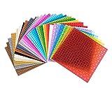 Rainbow - Pack de 36 bases apilables para construir - Compatibles con todas las grandes marcas - Diferentes colores - 15,24 x 15,24 cm