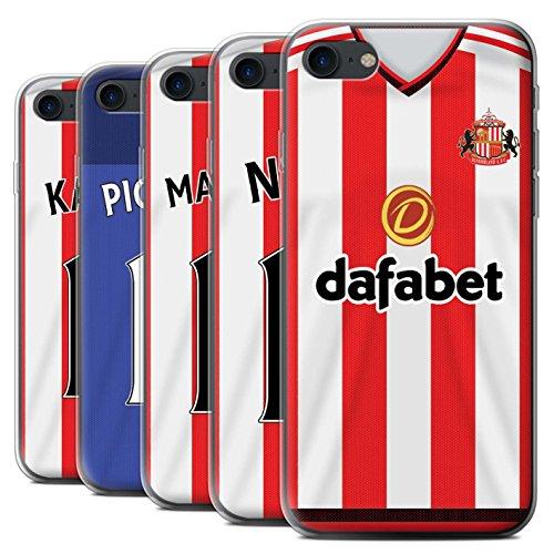 Offiziell Sunderland AFC Hülle / Gel TPU Case für Apple iPhone 7 / Matthews Muster / SAFC Trikot Home 15/16 Kollektion Pack 24pcs