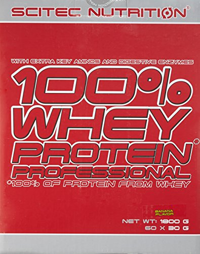 Scitec Nutrition Whey Protein Professional Rote Box Banana, 1er Pack (1 x 1.8 kg)