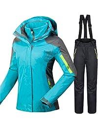 QZHE Traje de esqui Trajes De Esquí De Invierno para Mujeres A Prueba De Viento, Transpirable, Snowboard Chaquetas + Pantalones Al…