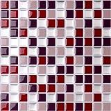 Azulejos Vamos Premium Antimoho Peel and Stick Tile Backsplash,Azulejos de Pared autoadhesivos para Cocina & baño 10 x 10 (6 Hojas)