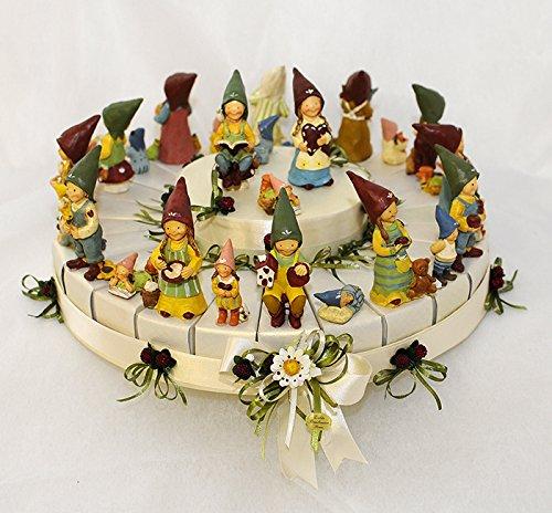 Torta bomboniere gnomi della fortuna 24 fette + 1(torta-92)