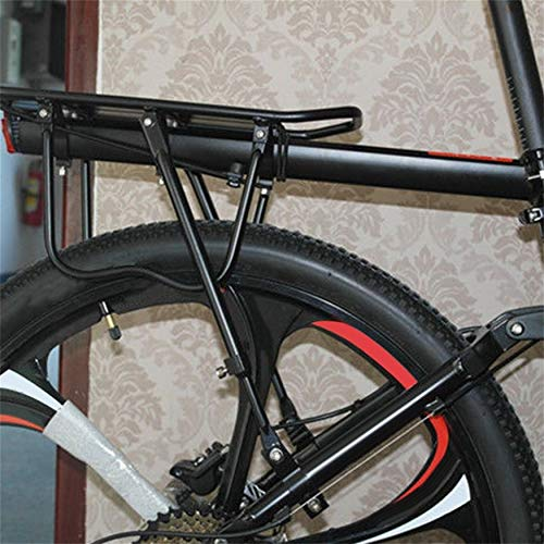 Yaoaomon MTB Bicycle Rear Rack Seat Post Mount Pannier Luggage Carrier Quick-Release Black -