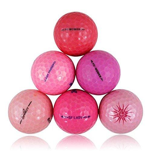 Pink Crystal Pro Golfbälle, Mix Crystal Mix, Mint Qualität, 24 Stück
