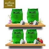 40 Cápsulas de Tè compatibles Nespresso - kit degustación de 40 cápsulas Tè compatible con maquinas Nespresso - Paquete de 4x10 por un total de 40 cápsules - Il Caffè italiano