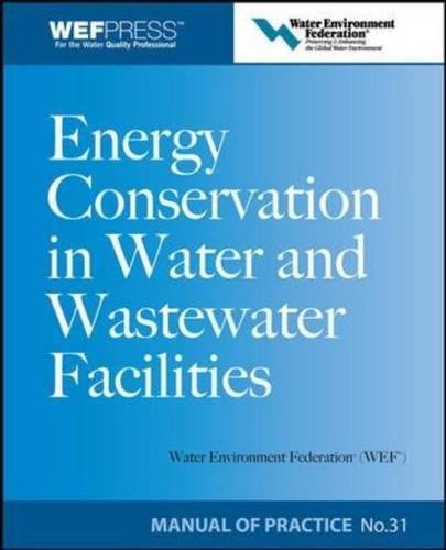 Energy Conservation in Water and Wastewater Facilities - Mop 32 (WEF Manual of Practice) -