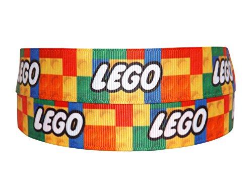 Ribbon Queen 2m x 22mm Lego Block Ripsband für Geburtstag Kuchen Geschenkpapier Haar Bögen Karten Craft Schnürsenkel in Verpackung Markenlogo