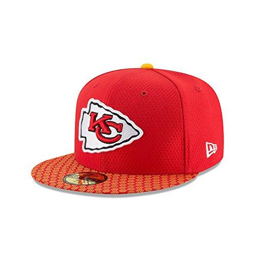 New Era 59Fifty Cap - NFL SIDELINE 2017 Kansas City Chiefs , Gr.7 1/2 - 60cm (XL)