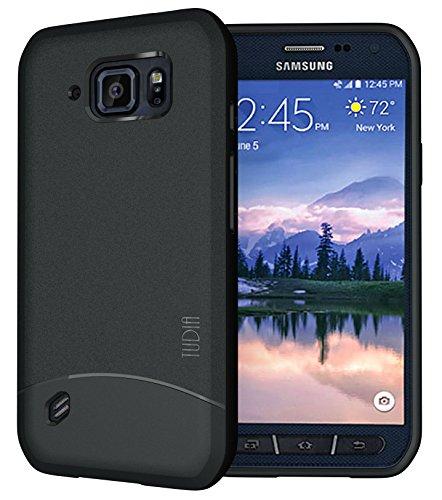 TUDIA Arch TPU Schutzhülle Samsung Galaxy S6 Active Ultra Slim Hülle (Schwarz)