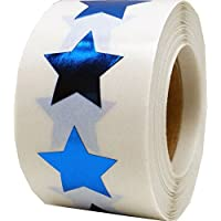 Star Stickers, 19 mm 3/4 Inch Wide, 500 Labels on a Roll