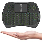 HITSAN I9 2.4GHz Wireless Green Color Backlit Keyboard With Mouse & Touch Pad For Windows Android Devices One Piece