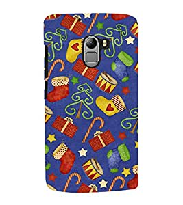 Christmas pattern Back Case Cover for Lenovo K4 note