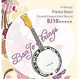 EDTara IRIN 4 Pcs BJ10 Banjo String Plated Steel Coated Copper Alloy Wound ADGC