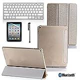 Best GÉNÉRIQUE iPad Claviers - Clavier Bluetooth Avec Smart Coque Support Et Stylet Review