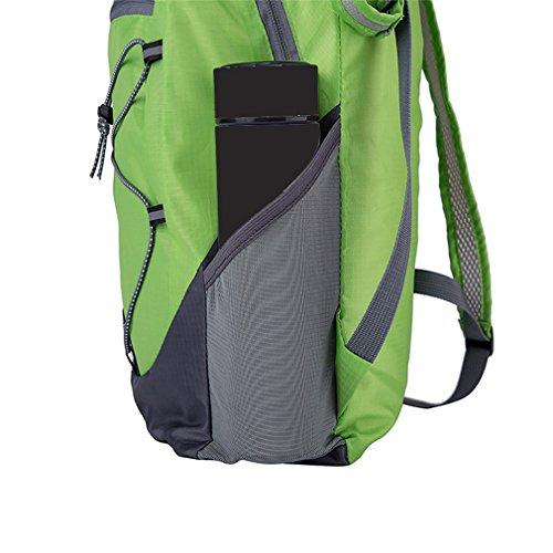 The most resina resistente, compatto e leggero borsa con cerniera interna, sport all' aperto alpinismo pieghevole zaino. Opzioni di colore. Capacità: 20l, Uomo, Green Green