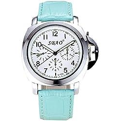 Wasserdichte casual Uhren, Damenuhren , days blue