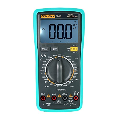 KKmoon Multifunktionale Handheld LCD Digital Voice NCV Echt RMS Multimeter DC/AC Spannung Strom Meter Kapazität Widerstand Diode Tester (Rms-dc-spannung)