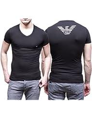 Emporio Armani Mens Knit T-Shirt - Camiseta para hombre