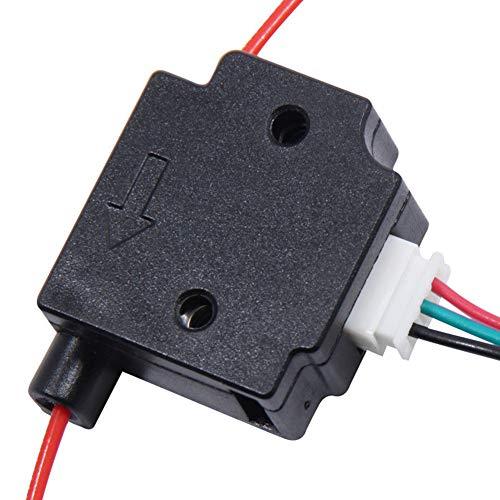 INGHU Erkennungsmodul Mit 1 Mt Kabel 1,75mm Exzentrizitätsschalter Filament Break Runout 3D Drucker Teile Spritzguss Monitor Zubehör Sensor Material Bü(Schwarz) -
