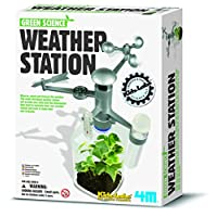 Weather Station Science Experiments Suitable for 8 year old Number One Toy Science Laboratory Gift Present Creative Minds Recycling Green Environment Set Game Climate Green Girls Girl Kids Childrens