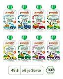 Pumpkin Organics QUERBEET Bio Baby-Brei (Wonne, Top, Spass, Sonnig, Happy, Zauber, Genuss, Freude) Quetschbeutel 48er Pack (48 x 100g) - Für Kinder und Babys ab dem 12. Monat