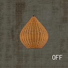 Pastorales de los restaurantes creativos personalidad gotas mesa de mimbre para lámparas de techo ( Color : A )