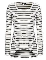 Zeagoo Damen Asymmetrisch Langarm Pullover Pulli Strickjacke Oversize Lose T-shirt Tops Oberteil Weiß XXL