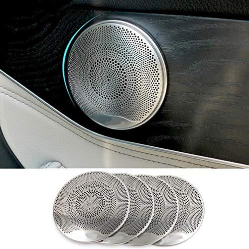 car-styling Edelstahl Zubehör Audio Lautsprecher inneren Tür Lautsprecher, Dekoration Rahmen Aufkleber Verkleidung für GLC 2016E Class Benz C-Klasse W205 - Auto-tür-lautsprecher