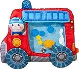 HABA 303820 - Wasserspielmatte Feuerwehr   Wasserbefülltes Baby-Spielzeug mit Schwimmelementen, Quietschelement und herausnehmbarer Figur   Ab 6 Monaten