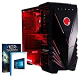 VIBOX Explosion 44 - Hohe Leistung, Gamer, Gaming PC - Schnell 4.0GHz FX 8350 - R9 390 PLUS eine lebenslange Garantie inbegriffen* (3TB Festplatte, 240GB Kingston SSD Solid-State-Laufwerk, 32 GB 1600MHz RAM, Hohe Qualität 550W PSU 64bit Windows 10, 8 GB AMD Radeon R9 390 Grafikkarte, AMD FX 8350 Neu Acht 8-Core Prozessor, Hohe Leistung, Büro, Familie, Gamer, Gaming PC, Multimedia, Desktop PC, USB3.0 Computer mit WarThunder Spiel Bundle)
