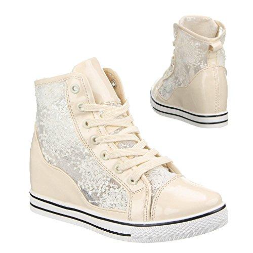 Damen Schuhe, JLF-12, FREIZEITSCHUHE Beige