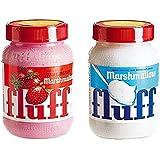 Guimauvre - BUR Lot Marshmallows Fluff : Fraise + Nature (x1)